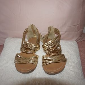 Gold Strappy Sandals!